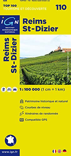 9782758524724: Reims St-Dizier #110 (Ign Top 100s) (English, French and German Edition)