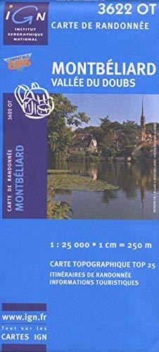 Montbéliard - Vallée du Doubs 1 : 25 000