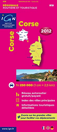 9782758526285: Corsica {Corse} Carte Regionale