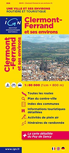 9782758526582: Clermont-Ferrand and Surroundings: IGN88416