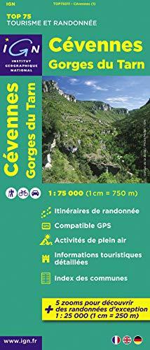 9782758526698: C�vennes, Gorges du Tarn : 1/75 000 (Tourisme et Randonn�e)