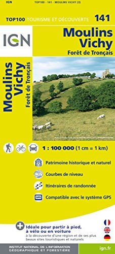 IGN 1 : 100 000 Moulins - Vichy