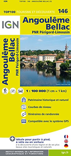 IGN 1 : 100 000 Angouleme - Bellac