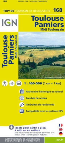 9782758527008: TOP100168 TOULOUSE/PAMIERS 1/100.000