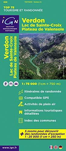 9782758527183: Verdon, Lac de Sainte-Croix, Plateau de Valensole : 1/75 000 (Tourisme et Randonn�e)