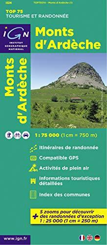 9782758527190: Monts D'Ardeche: IGN.75014