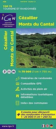 9782758527213: TOP75016 CEZALLIER/MONTS DU CANTAL 1/75.000