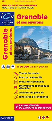 9782758527336: Grenoble and Surroundings 1:80K IGN (French Edition)