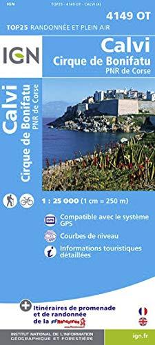9782758528111: Calvi / Cirque de Bonifatu / PNR de Corse 2012: IGN.4149OT
