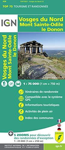 9782758529040: Vosges Du Nord / Mont St Odile / Le Donon: IGN.75027