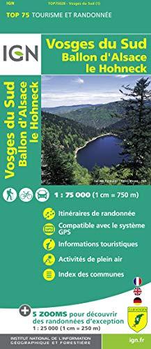 9782758529057: Vosges du Sud / Ballon d'Alsace / Le Hohneck: IGN.75028