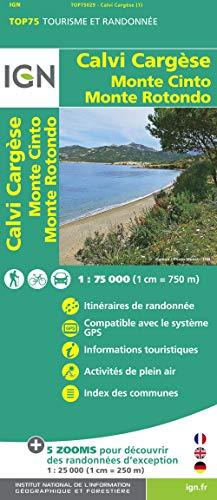 9782758529064: Calvi / Cargesse / Monte Cinto / Monte Rotondo: IGN.75029