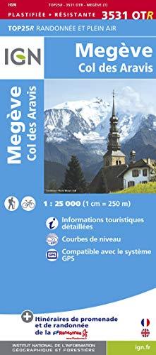 9782758529200: 3531otr megeve/col des aravis resistante (Top 25 & série bleue - Carte de randonnée)