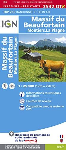 9782758529316: Massif du Beaufortin / Moutiers: IGN.P.3532OTR