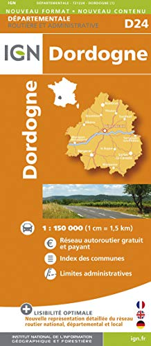9782758529644: Dordogne 1:200k IGN721224 (Departement Maps) (English and French Edition)