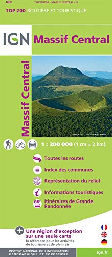 9782758530473: Massif Central : 1/200 000 (Top 200)