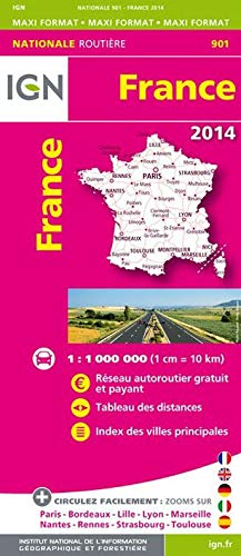 9782758531012: France Road Map 1:1M IGN #901 (French Edition)