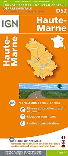 9782758532019: Haute-Marne Dep 52 2014: IGN721252
