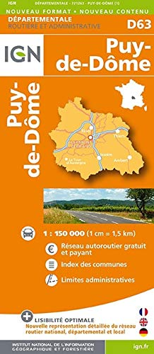 9782758532095: Puy-de-Dôme dép 63 (Ign Map)