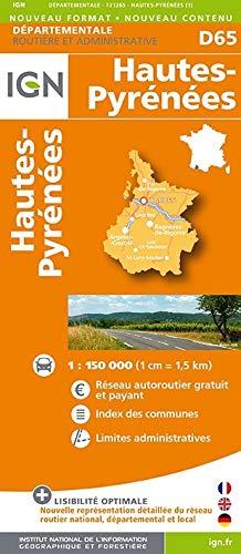 9782758532118: Hautes-Pyrenees Dep 65 2014: IGN721265