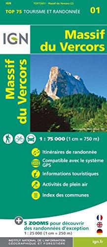 9782758532651: Top75001 Massif du Vercors 1/75.000