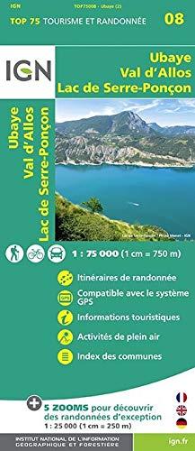 Ubaye - Val d`Allos - Lac de Serre-Poncon 1 : 75 000