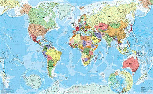 9782758533474: World Political Flat Map Laminated (Posters Monde)