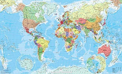 9782758533474: Poster Monde politique, plastifié : 1/29 750 000 (Posters Monde)