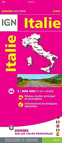 9782758533498: Italy Road Map IGN 1:800K (English and French Edition)