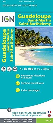 9782758533504: Guadeloupe Saint-Martin Saint-Barthelemy : 1/80 000 (Découverte de l'Outre-Mer)