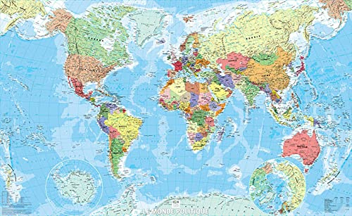 9782758533511: World Political Flat Map 2014: IGN70046
