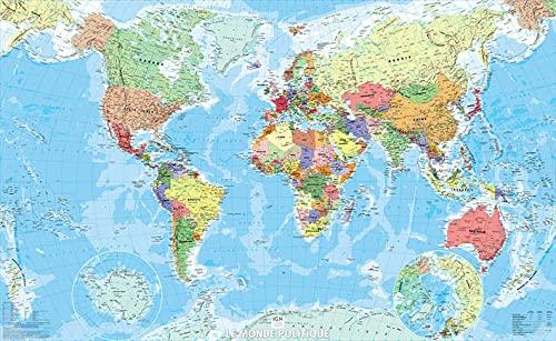 9782758533511: Monde politique papier 1/40M 61,5x100 cm