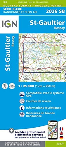 St Gaultier Rosnay 1 : 25 000