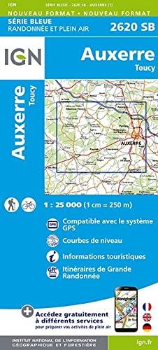 9782758534358: Auxerre Toucy 1 : 25000 (Top 25 & série bleue - Carte de randonnée)