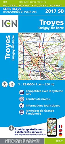 Troyes Lusigny 1 : 25000