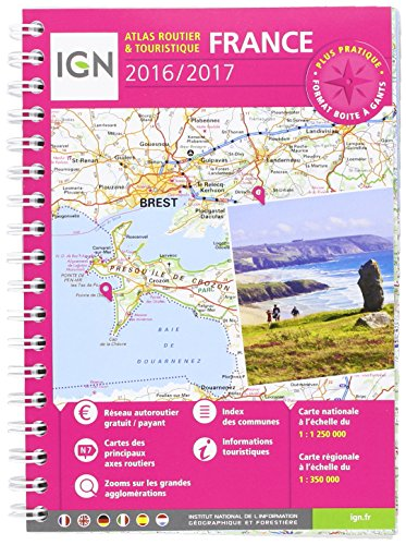9782758534808: France Atlas Spiral Tourist 2017: IGN-A95048 (French Edition)