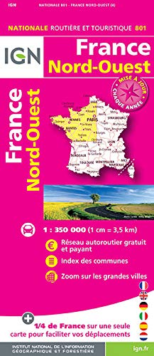 9782758534822: France North West 2016: IGN-801 (French Edition)