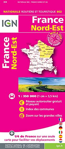 9782758534839: France North East 2016: IGN-802 (French Edition)