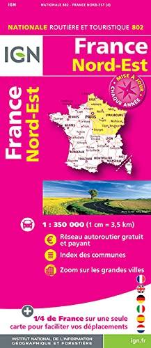 9782758534839: 802 FRANCE NORD-EST 1/350.000