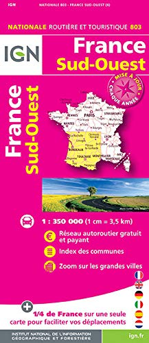 9782758534846: France South West 2016: IGN-803 (French Edition)