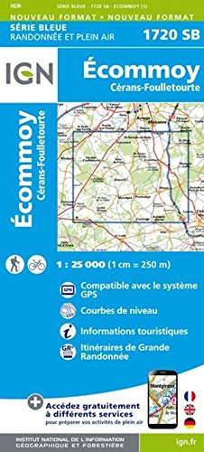 Ecommoy Cerans Foulletourte 1 : 25 000