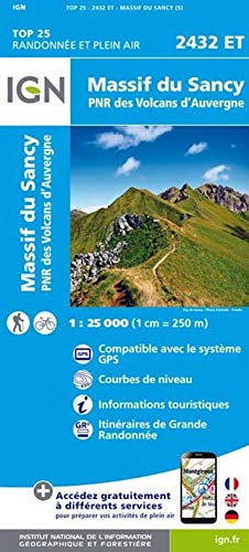 Massif du Sancy 1 : 25 000