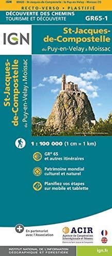 9782758536321: St-Jacques de Compostelle. Le Puy-Moissac. Découverte des chemins 1:100.000