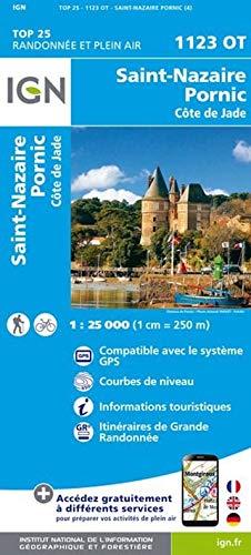 9782758536918: St-Nazaire / Pornic / Cote de Jade 2016: IGN.1123OT (Top 25 & série bleue - Carte de randonnée)