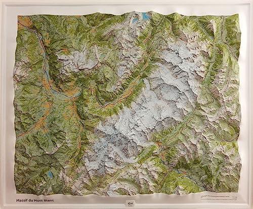 9782758538738: 60054 massif du mont blanc 94cm X 114 cm (Carte en relief)