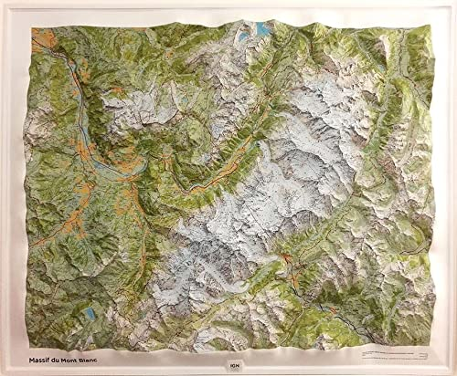 9782758538738: Massif Mont-Blanc Relief 2016: IGNR60054