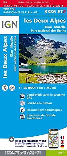 9782758545569: Les Deux Alpes, Olan-Muzelle, PN des Ecrins : 1/25 000, plastifiée-résistante