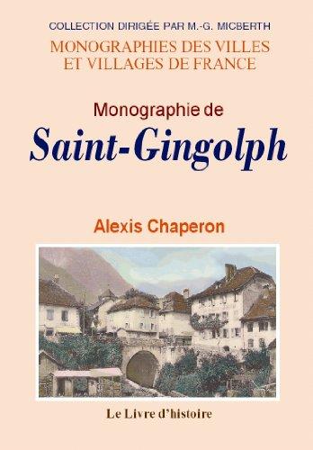 9782758604228: Saint-Gingolph (Monographie de)