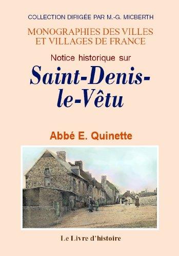 9782758605294: Saint-Denis-le-Vetu (Notice Historique Sur)