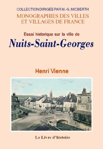 9782758605799: Nuits-Saint-Georges (Essai Historique Sur la Ville de)